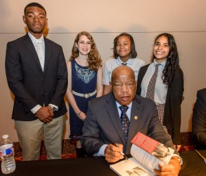 Congressman Lewis with WITS Students_8705